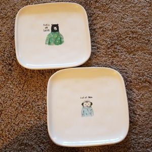 Christmas Plates by Rae Dunn